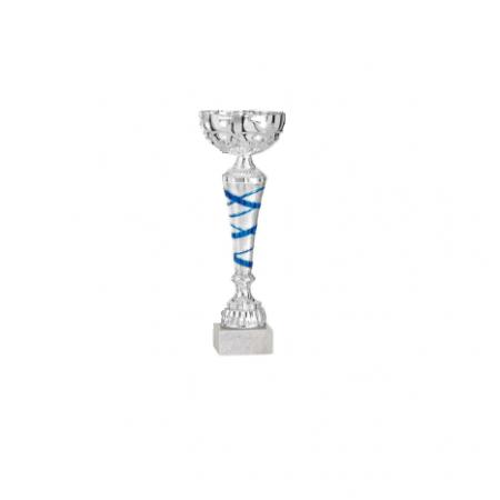 coupe bleu argent 30cm recompense sportive equitation concours