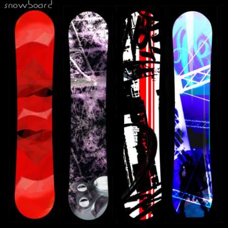 Design personnalisable de snowboard