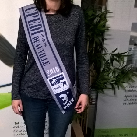 Echarpes de champion Miss Mister entierement personnalisables podium concours