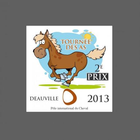 plaque plastique poney concours cheval promotionnel