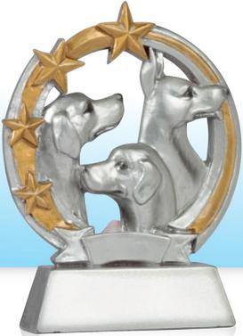 trophée chiens show canin, demontration canine chien concours