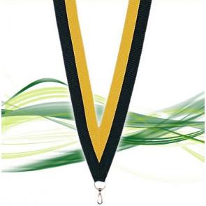 Ruban pour médaille noir et jaune