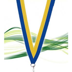 Ruban pour médaille bleu et jaune