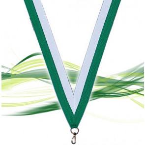 Ruban pour médaille blanc et vert