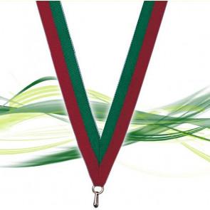 Ruban pour médaille rouge et vert