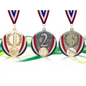 Podium 3 Médailles avec cordon & pastille 3MP7