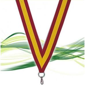 Ruban médaille jaune & rouge : Normandie