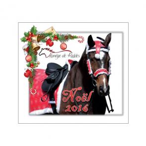 design de noel sur plaque et flot concours equitation