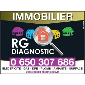 Panneaux agence immobilière diagnostiqueur immo