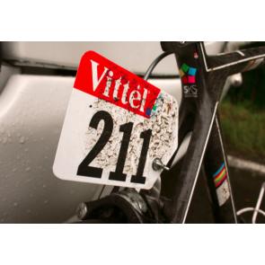 plaque VTT BMX Velo dossard competition course selle