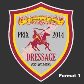 Plaque ecusson blason concours hippique Joute CSO equitation