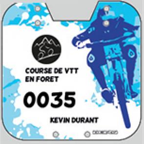 Plaques guidon fourche avant VTT BMX compétition vélo 15,5x17,5 rallye cross déscente freestyle