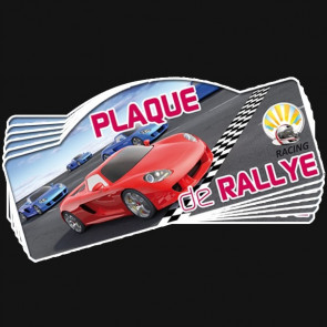 Plaque rallye automobile PVC 1