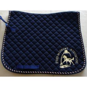 Tapis de selle brodé équiation cheval marquage brodrie logo