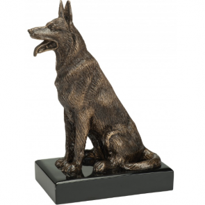 Trophee chien assis trophees canin berger allemand belge chienne