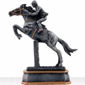 CSO trophée concours cavalier avec cheval sautant un obstacle