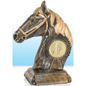 tete de cheval buste trophée poney compétition concours