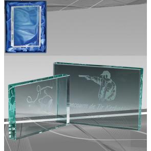 Trophée verre gravable personnalisable