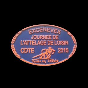 recompense concours plaque equitation metal aluminium forge CSO elevage dressage